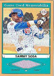 2003 Upper Deck Play Ball Game Used Memorabilia Tier 1 Gold #SS1 Sammy Sosa Jsy