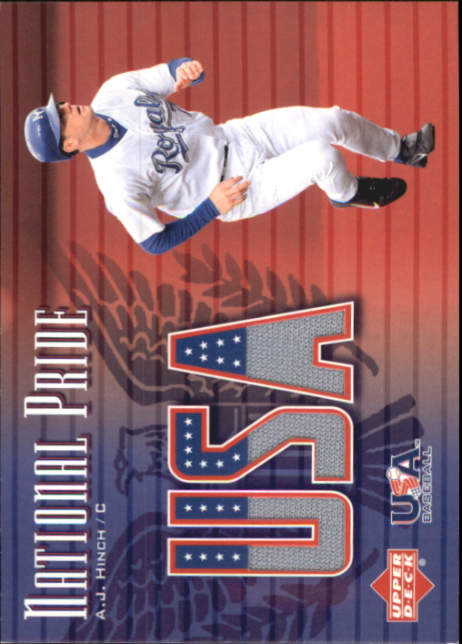 2003 Upper Deck National Pride Memorabilia #AJ A.J. Hinch Jsy