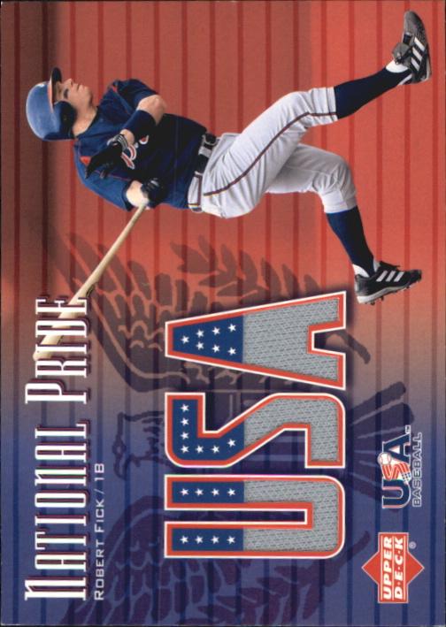 2003 Upper Deck National Pride Memorabilia #RF Robert Fick Jsy