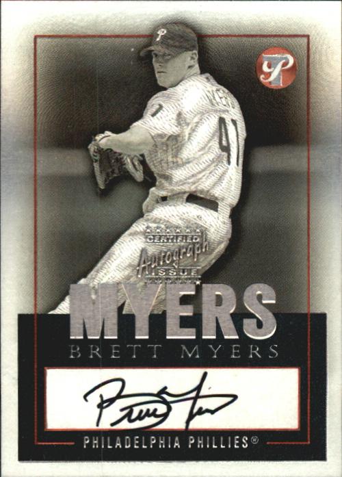 2003 Topps Pristine Personal Endorsements #BM Brett Myers