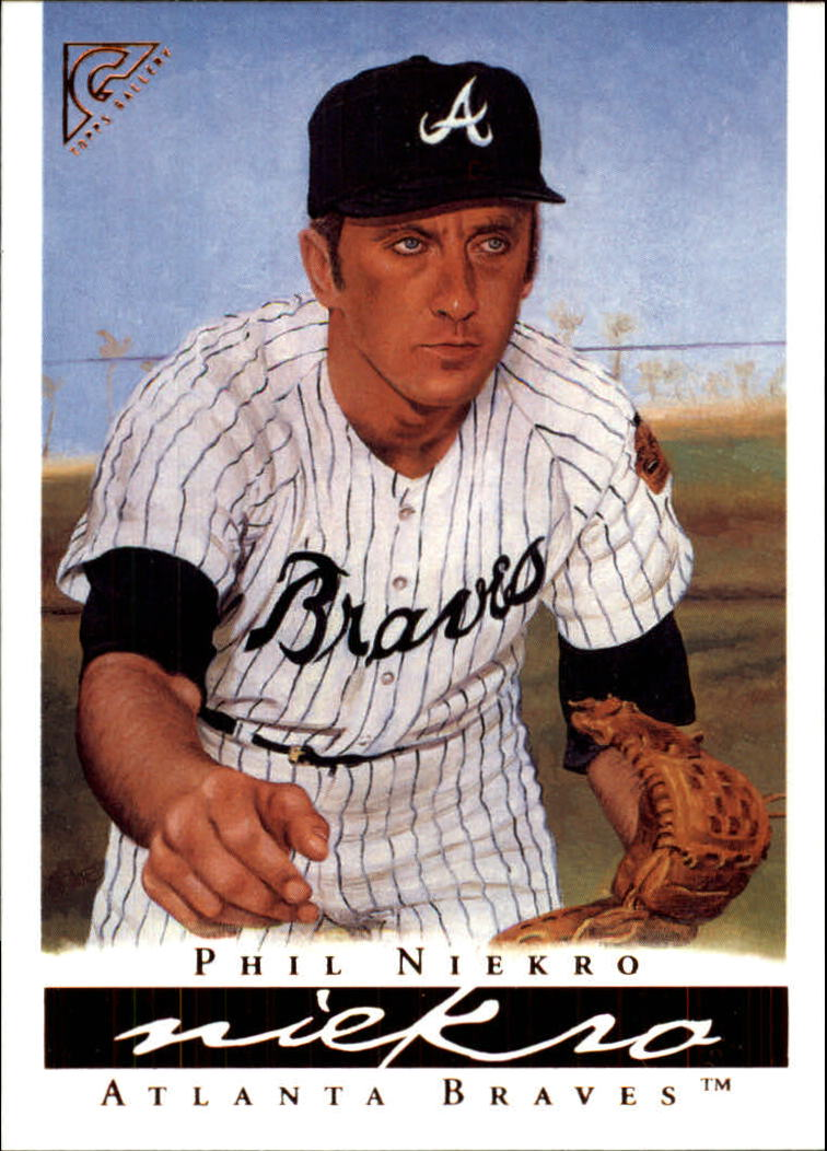 2003 Topps Gallery HOF #17 Phil Niekro Black Hat