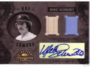 2003 Timeless Treasures HOF Combos Autographs #6 Mike Schmidt Bat-Jsy/15