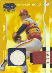 2003 Leaf Certified Materials Mirror Gold Materials #72 Nolan Ryan Astros Jsy/10