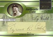 2003 Donruss Signature Authentic Cuts #1 Ty Cobb/3