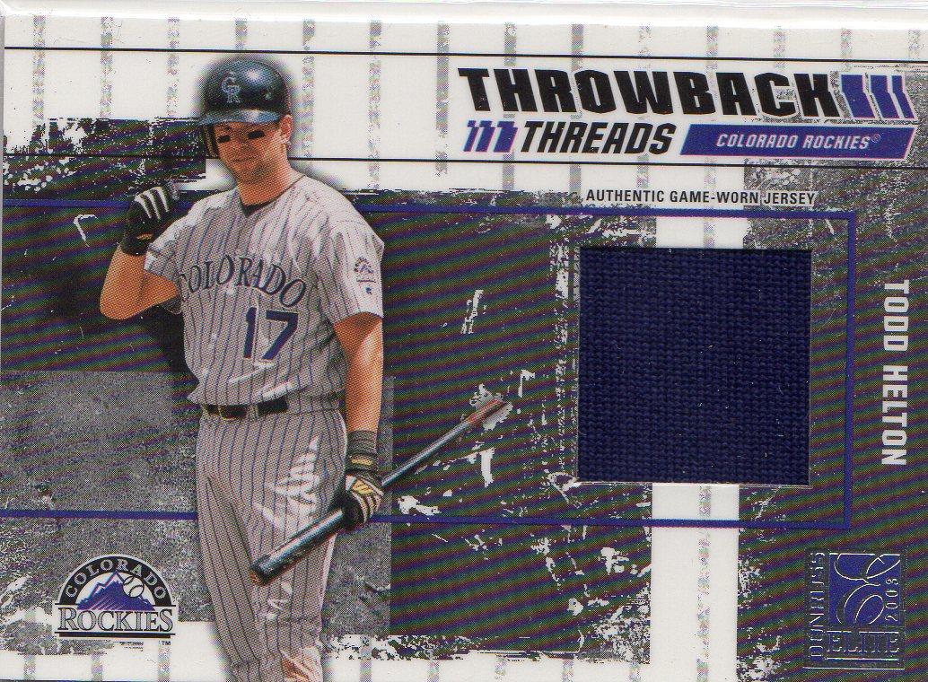 2003 Donruss Elite Throwback Threads #68 Todd Helton/Larry Walker