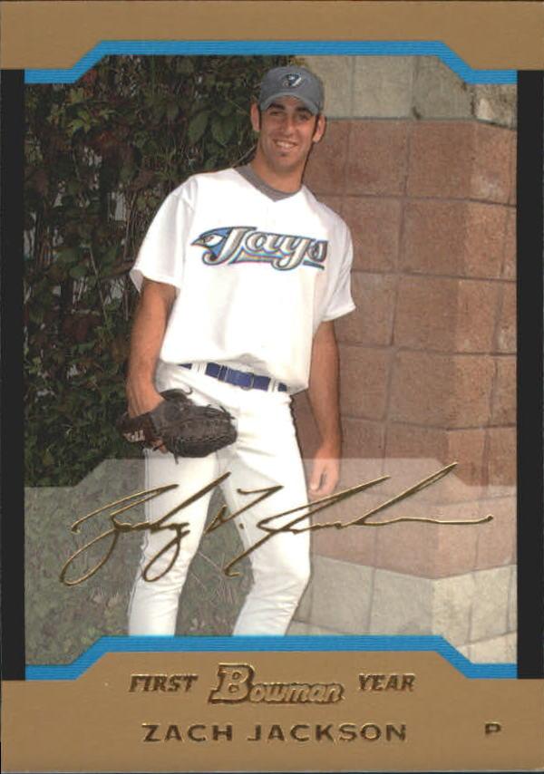 2004 Bowman Draft Gold #109 Zach Jackson