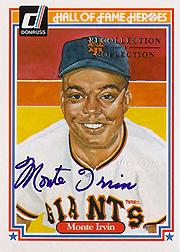 2004 Diamond Kings Recollection Autographs #47 Monte Irvin 84 HOF/7