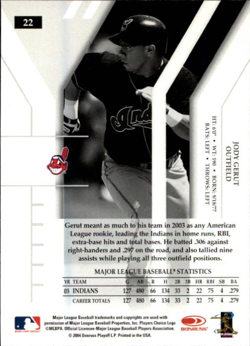 2004 Donruss Elite Extra Edition #22 Jody Gerut back image