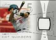 2004 Flair Hot Numbers Game Used Silver #AP Albert Pujols