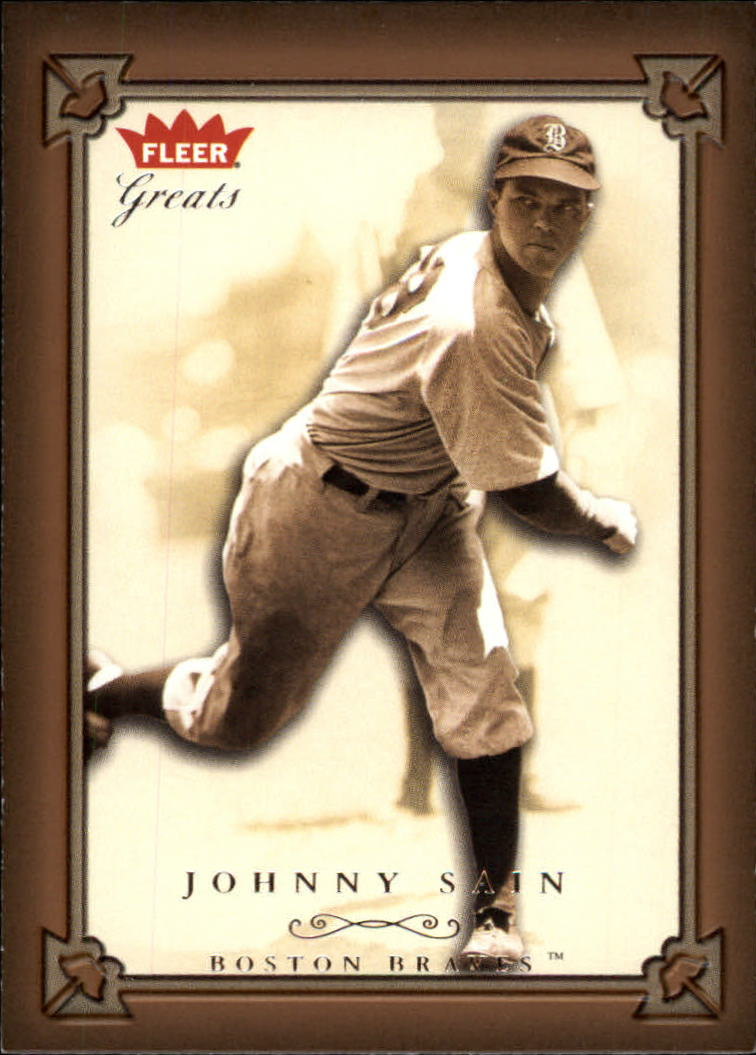 2004 Greats of the Game #106 Johnny Sain