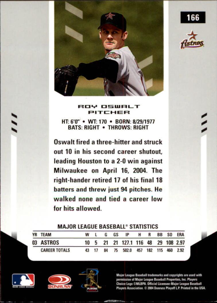 2004 Leaf Certified Materials #166 Roy Oswalt back image