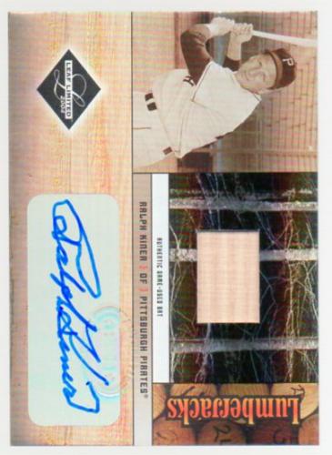 2004 Leaf Limited Lumberjacks Autographs Bat #28 Ralph Kiner/100