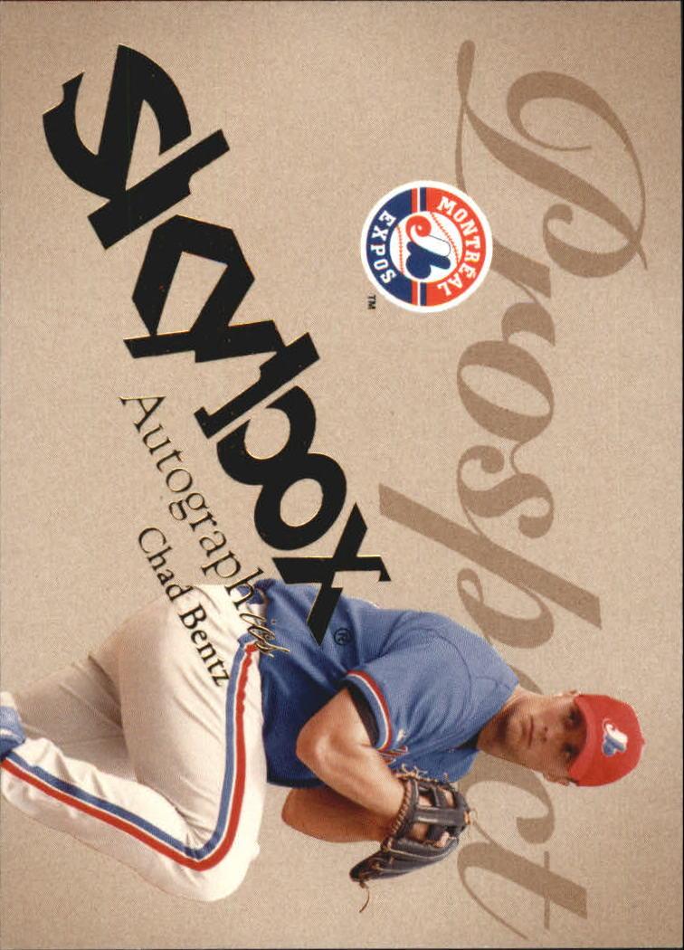 2004 SkyBox Autographics #67 Chad Bentz PR RC