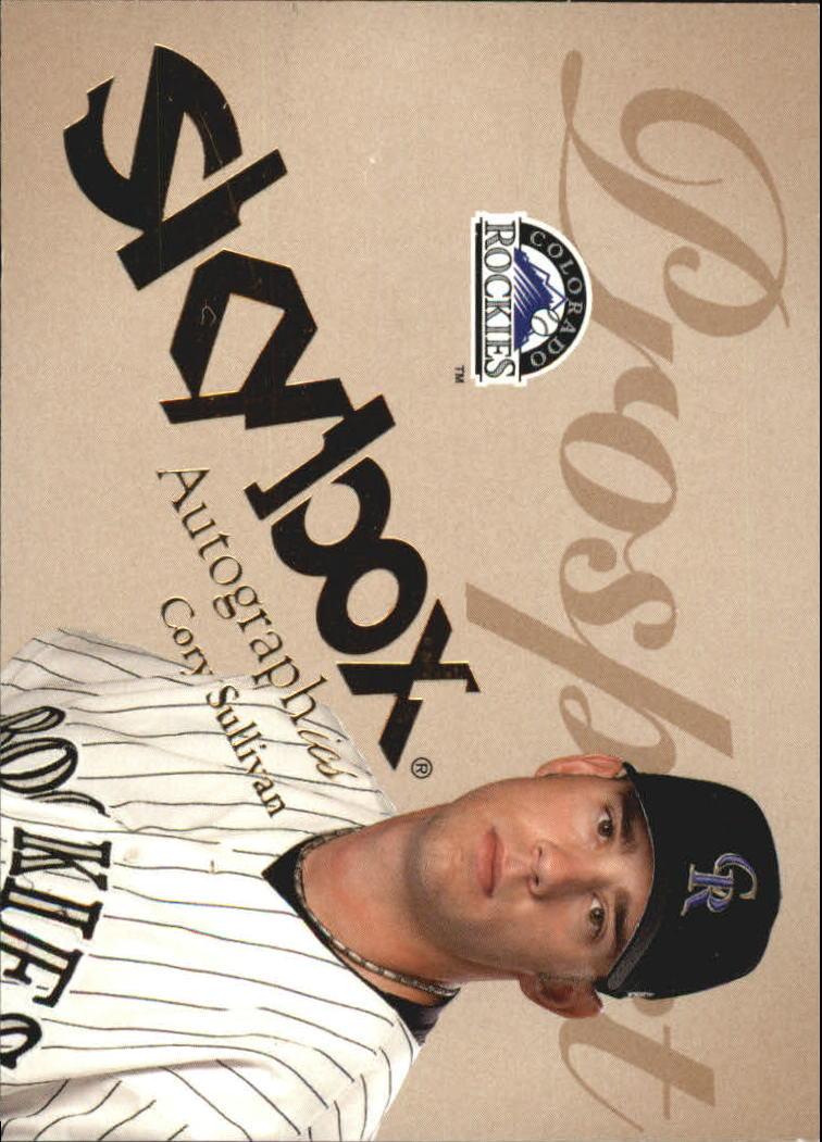 2004 SkyBox Autographics #76 Cory Sullivan PR RC