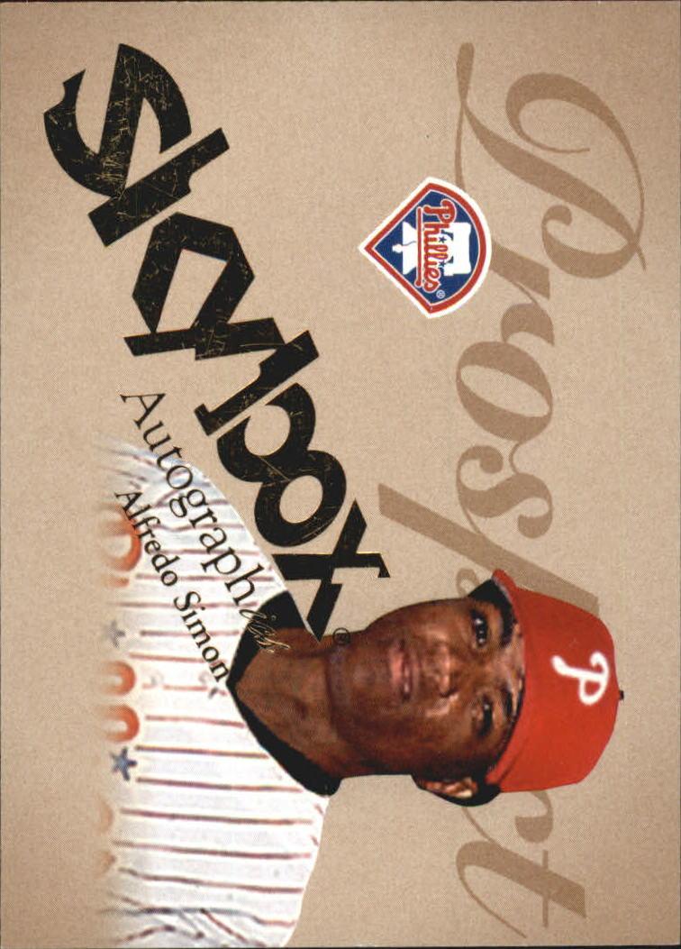 2004 SkyBox Autographics #84 Alfredo Simon PR RC