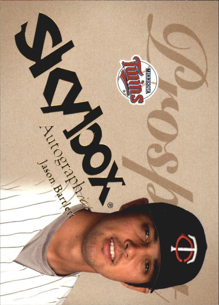 2004 SkyBox Autographics #86 Jason Bartlett PR RC