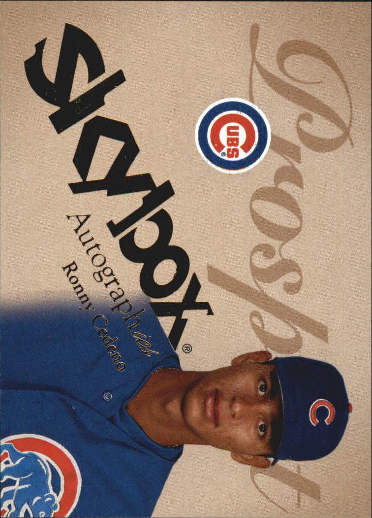 2004 SkyBox Autographics #91 Ronny Cedeno PR RC