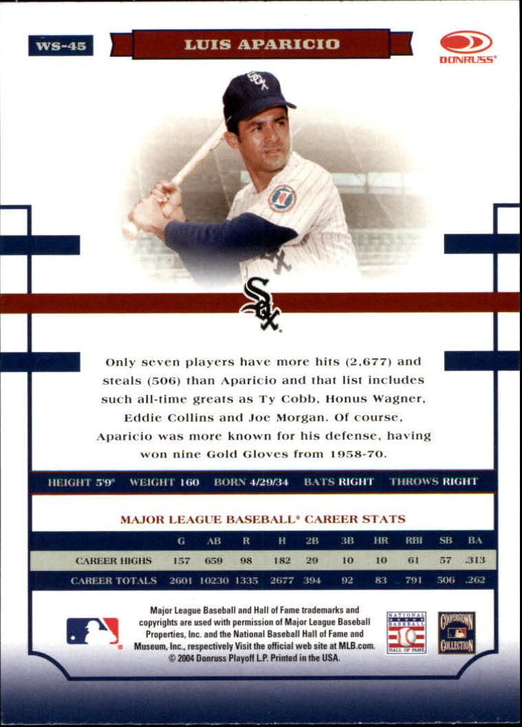 2004 Donruss World Series #45 Luis Aparicio back image