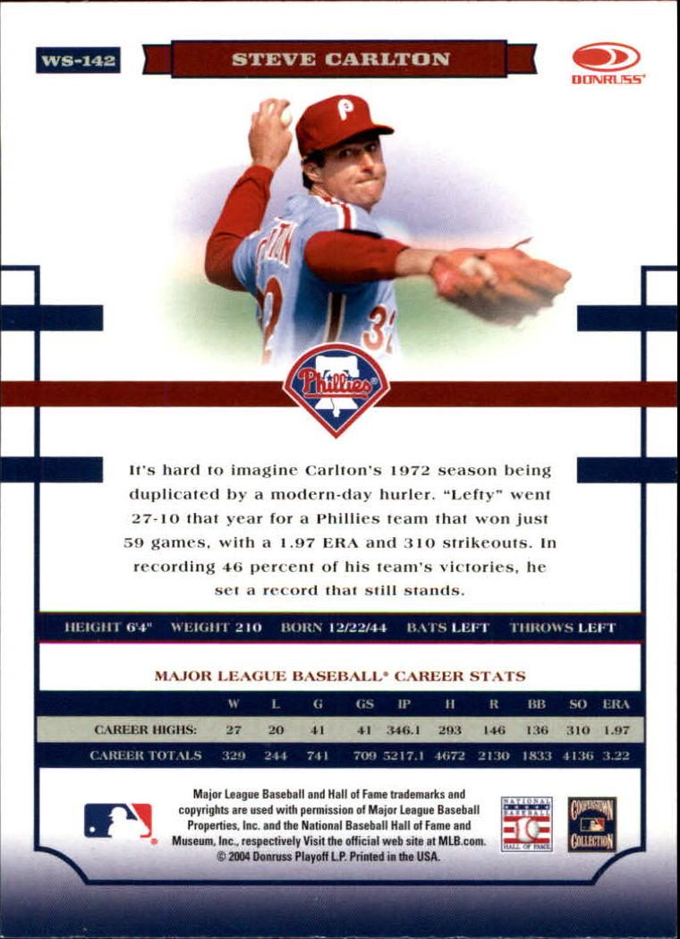 2004 Donruss World Series #143 Dave Parker back image