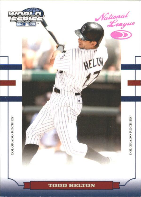 2004 Donruss World Series HoloFoil 100 #65 Todd Helton