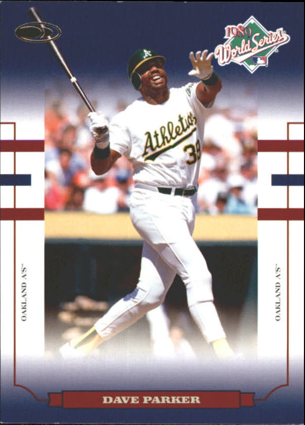 2004 Donruss World Series Blue #56 Dave Parker A's