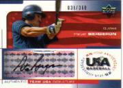 2004 USA Baseball 25th Anniversary Signatures Black Ink #BERG Peter Bergeron/360