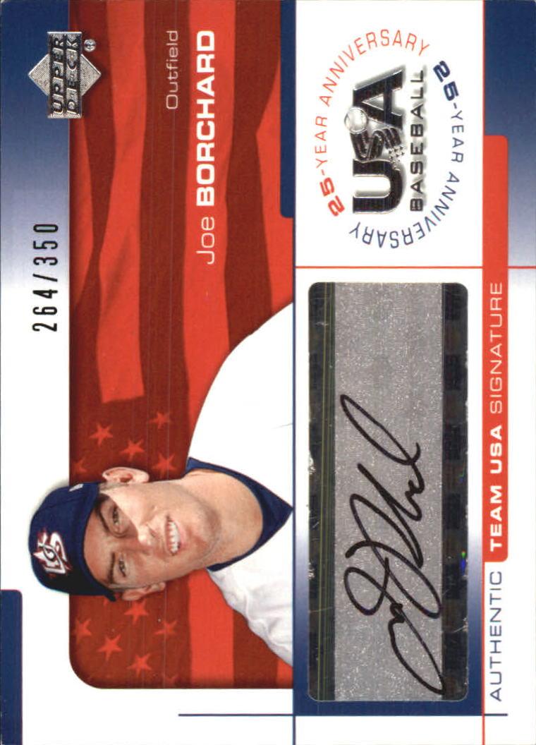 2004 USA Baseball 25th Anniversary Signatures Black Ink #BOR Joe Borchard/350