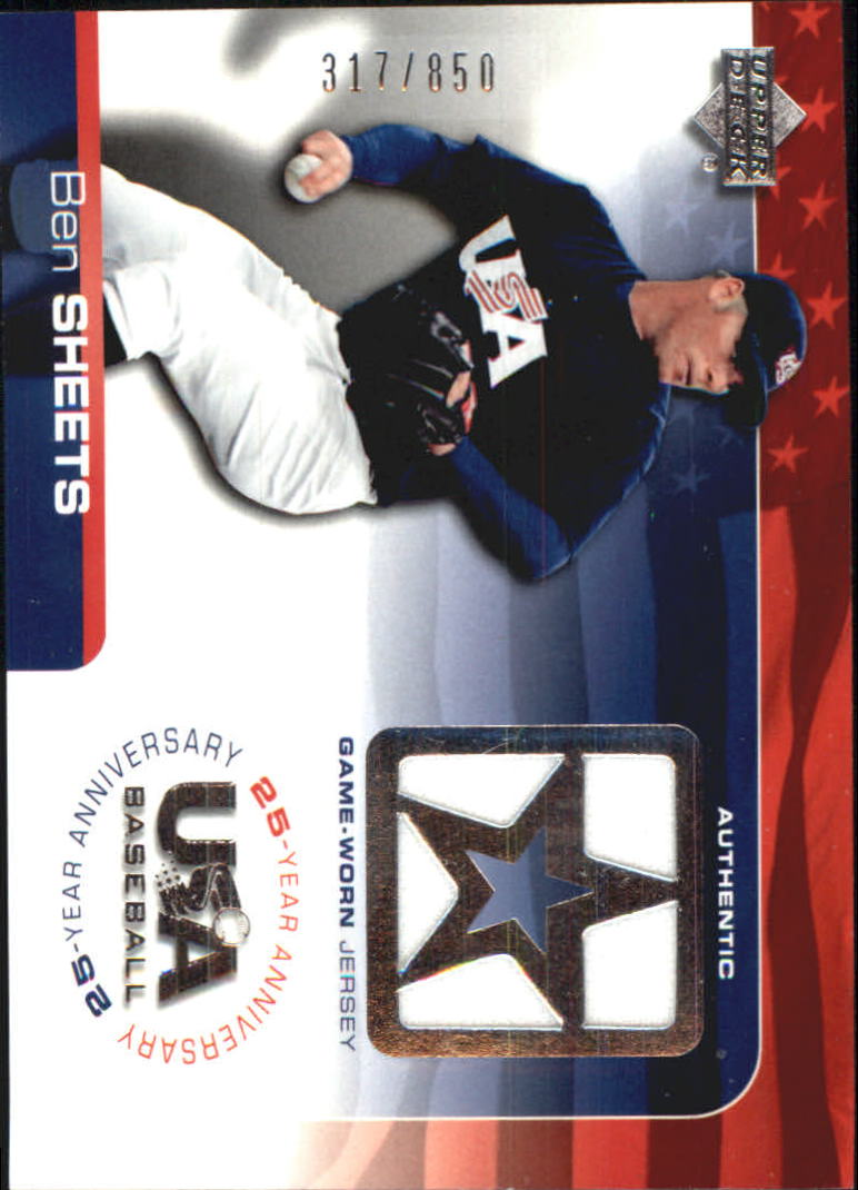 2004 USA Baseball 25th Anniversary Game Jersey #BS Ben Sheets/850