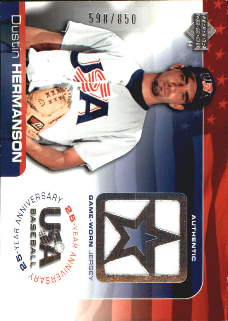 2004 USA Baseball 25th Anniversary Game Jersey #DH Dustin Hermanson/850