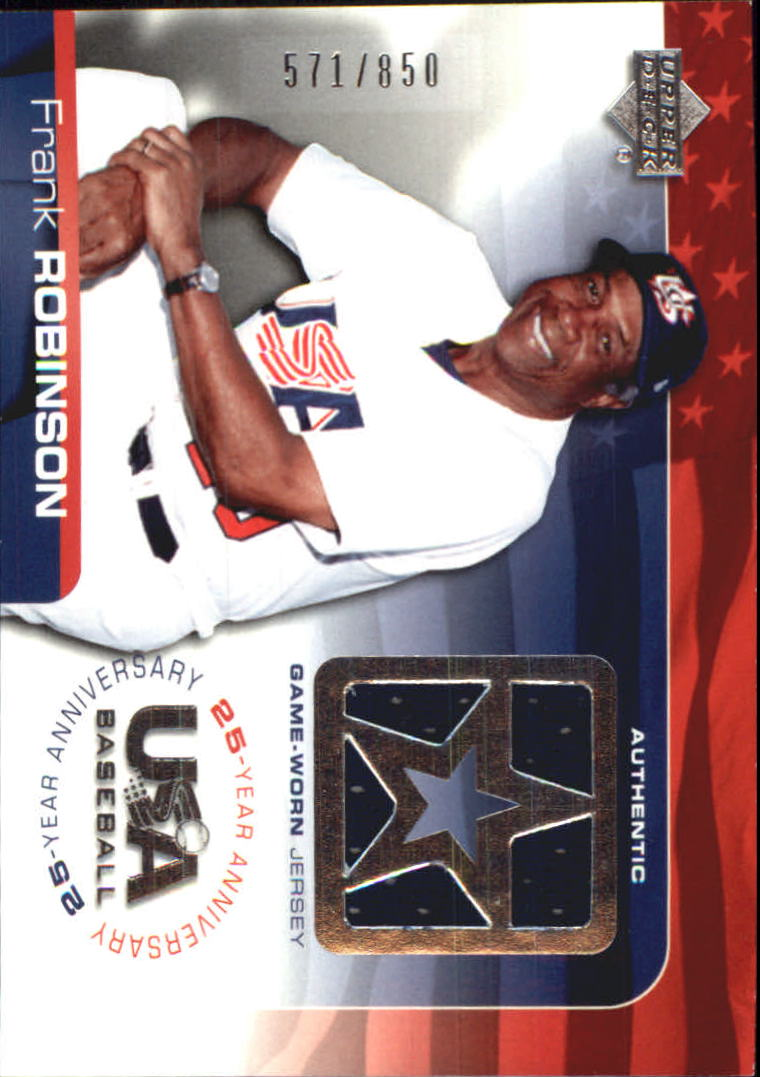 2004 USA Baseball 25th Anniversary Game Jersey #FR Frank Robinson/850