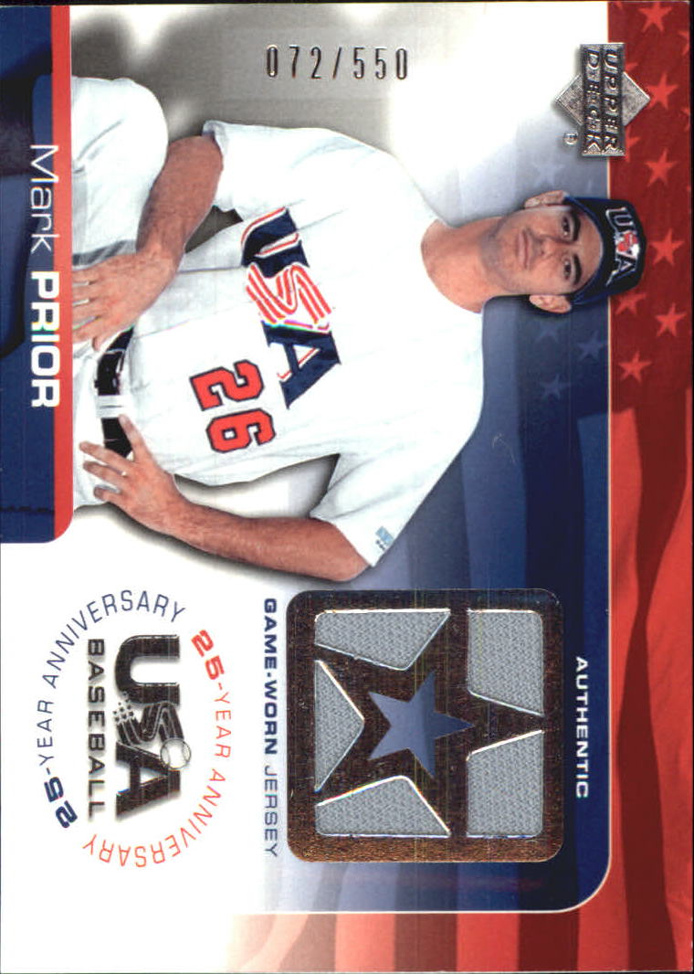 2004 USA Baseball 25th Anniversary Game Jersey #MP Mark Prior/550