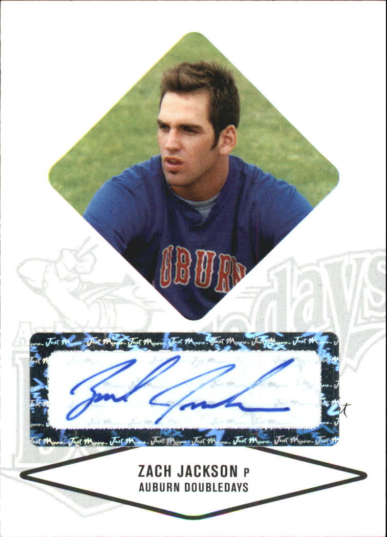 2004 Justifiable Autographs #36 Zach Jackson/825 *