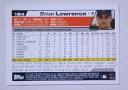 2004 Topps #184 Brian Lawrence back image