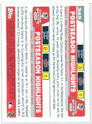 2004 Topps #349 R.Clemens/D.Wells ALDS back image
