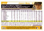 2004 Topps #411 Jason Bay back image