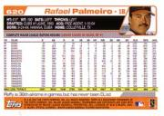 2004 Topps #620 Rafael Palmeiro back image