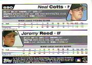 2004 Topps #690 J.Reed/N.Cotts back image