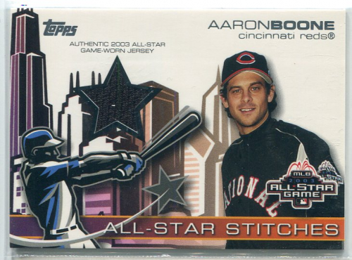 2004 Topps All-Star Stitches Jersey Relics #AB Aaron Boone