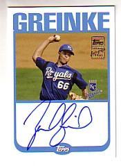 2004 Topps Autographs #ZG Zack Greinke C2