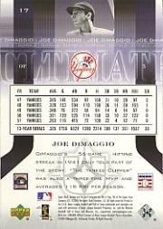 2004 Ultimate Collection #17 Joe DiMaggio back image