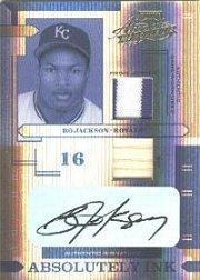 2004 Absolute Memorabilia Absolutely Ink Combo Material #AI18 B.Jackson Bat-Jsy/5