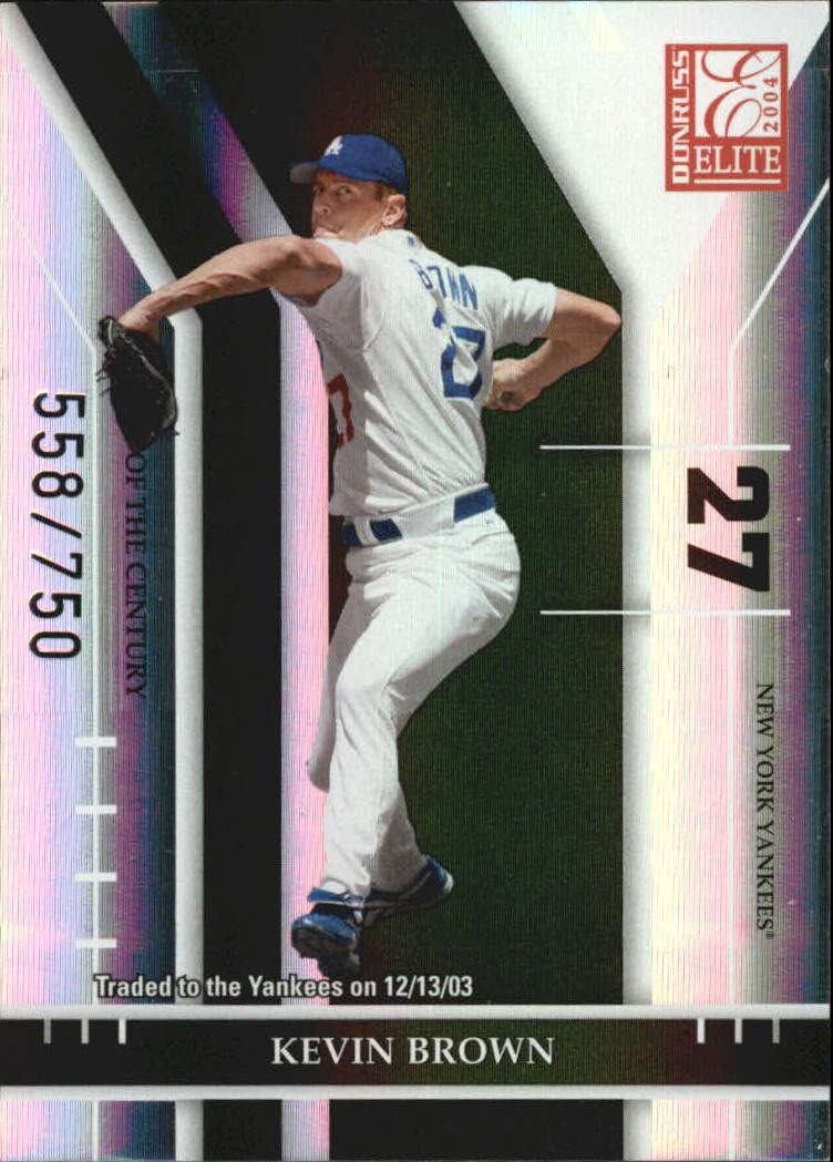 2004 Donruss Elite Turn of the Century #48 Kevin Brown