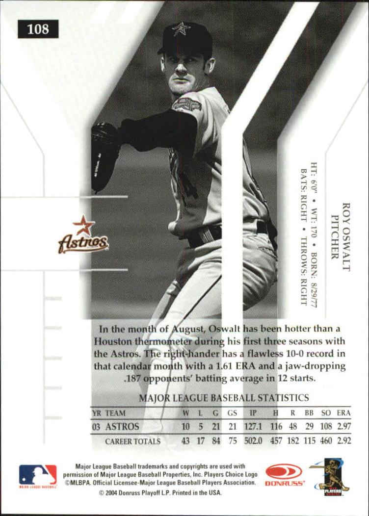 2004 Donruss Elite Turn of the Century #108 Roy Oswalt back image