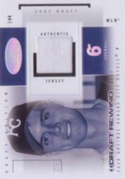 2004 Hot Prospects Draft Rewind Jersey White Hot #ZG Zack Greinke