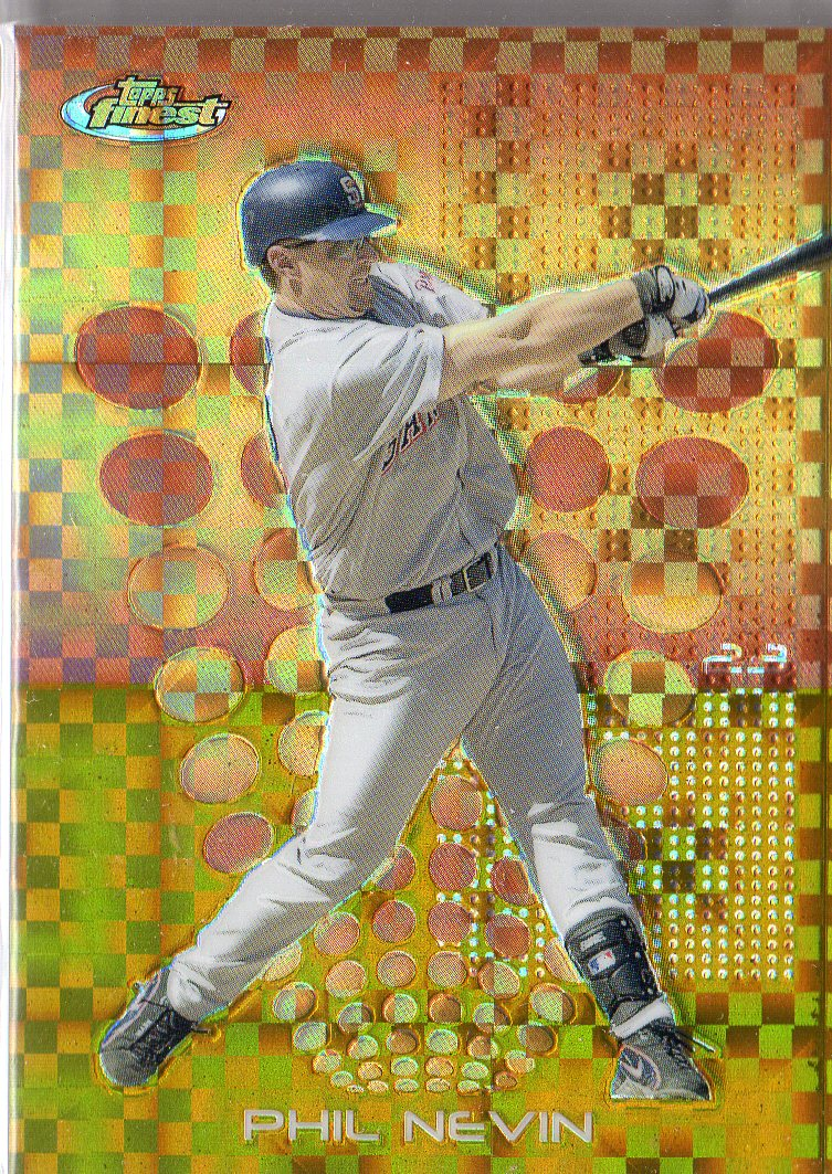 2004 Finest Uncirculated Gold X-Fractors #98 Phil Nevin