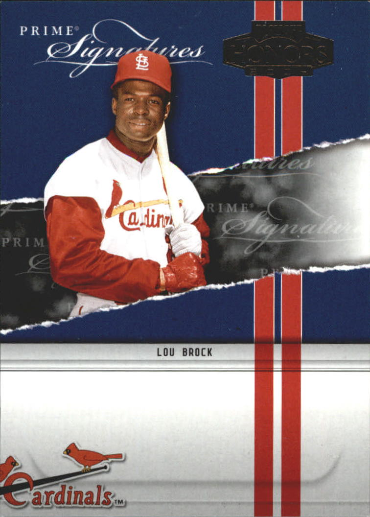 2004 Playoff Honors Prime Signature Insert #28 Lou Brock