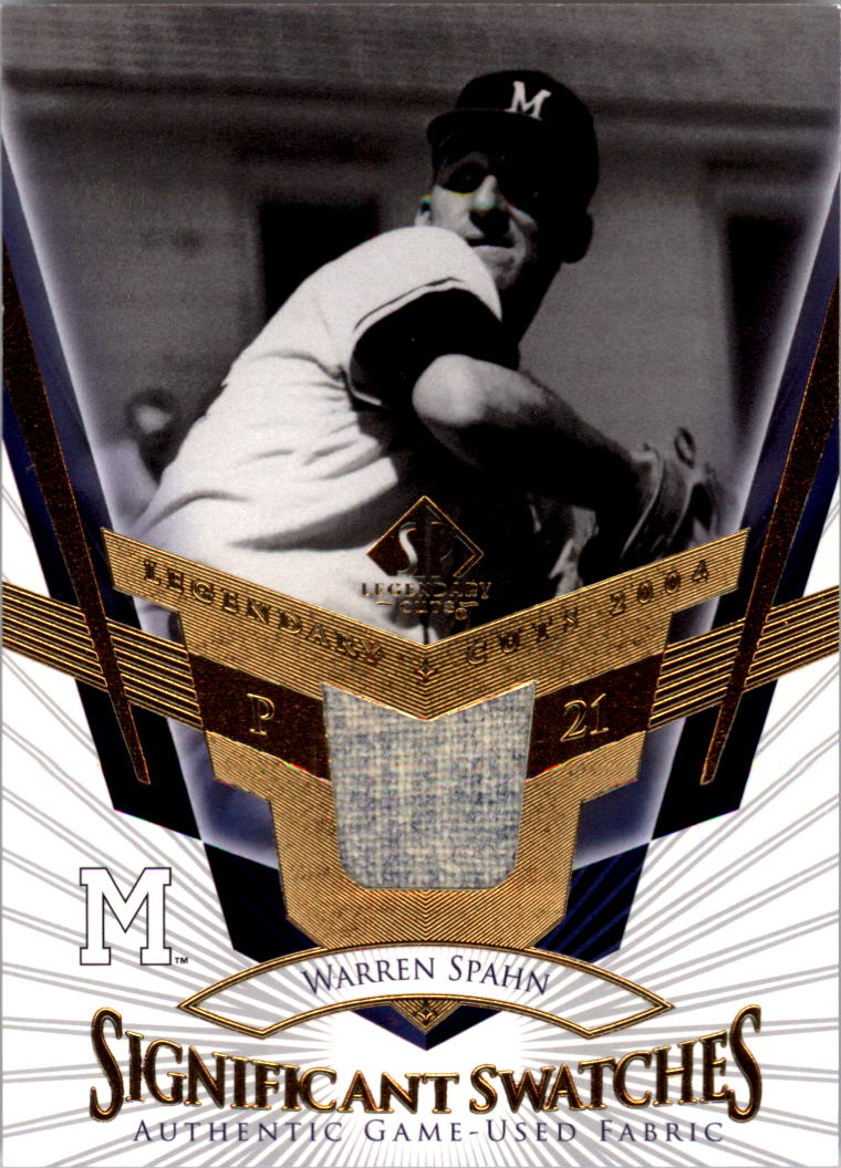 2004 SP Legendary Cuts Significant Swatches #WS Warren Spahn Jsy