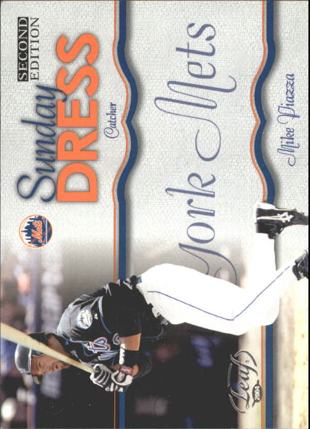 2004 Leaf Sunday Dress Second Edition #3 Mike Piazza