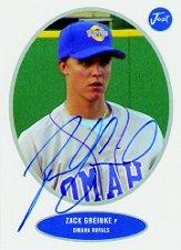 2004 Just Prospects 05 Preview Autograph #3 Zack Greinke