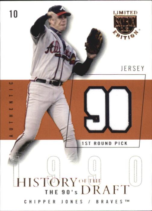 2004 SkyBox LE History Draft 90's Jersey #CJ Chipper Jones/90